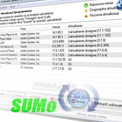 اطلاع از بروز رسانی نرم افزارهای نصب شده SUMO 3.8.4.214 Final