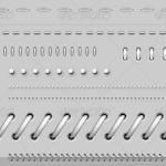 دانلود طرح لایه باز خطوط جدا کننده=فنری