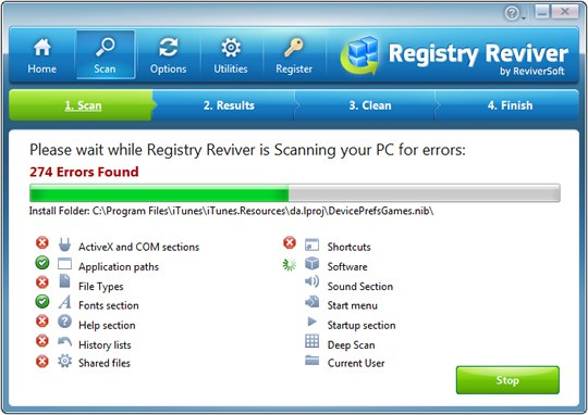 Registry Reviver 4.6.0.4 + Portable بهینه سازی رجیستری