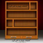 فایل لایه باز قفسه کتابخانه psd