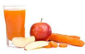 فواید آب سیب وآب هویج